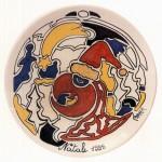 antonio cremonese piatto in ceramica
