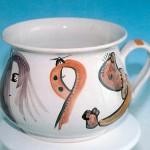 scultura in ceramica dell'artista amodio
