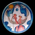 piatto in ceramica adorno bonciani