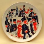piatto in ceramica franz borghese