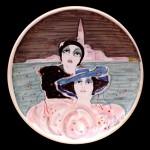 piatto in ceramica renato borsato