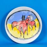 piatto in ceramica giuseppe cesetti