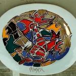 piatto in ceramica antonio cremonese