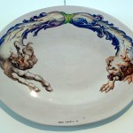 piatto in ceramica bruno d'arcevia