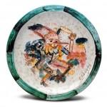 piatto in ceramica giuseppe fioroni
