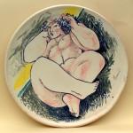 piatto in ceramica franco franchi