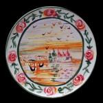 piatto in ceramica di felice ludovisi