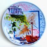 piatto in ceramica felice ludovisi