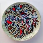 piatto in ceramica umberto mastroianni