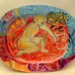 piatto in ceramica roberto panichi