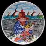 piatto in ceramica antonio possenti