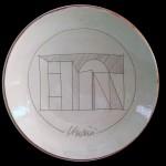 piatto in ceramica giuseppe uncini
