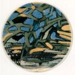 piatto in ceramica simona weller