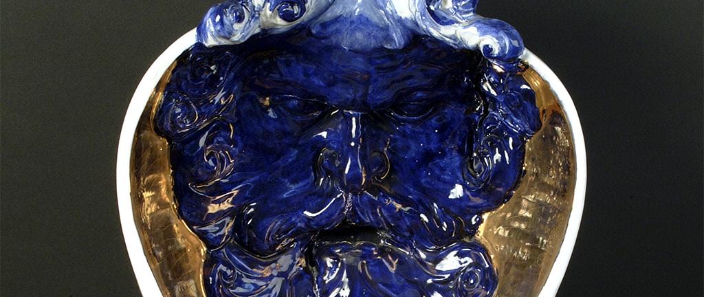 piatto scultura in ceramica bruno d'arcevia