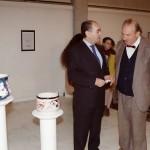 alviero moretti e gabriel caruana presso galleria ceramica contemporanea