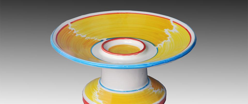 scultura per mostra ceramica contemporanea in lucem