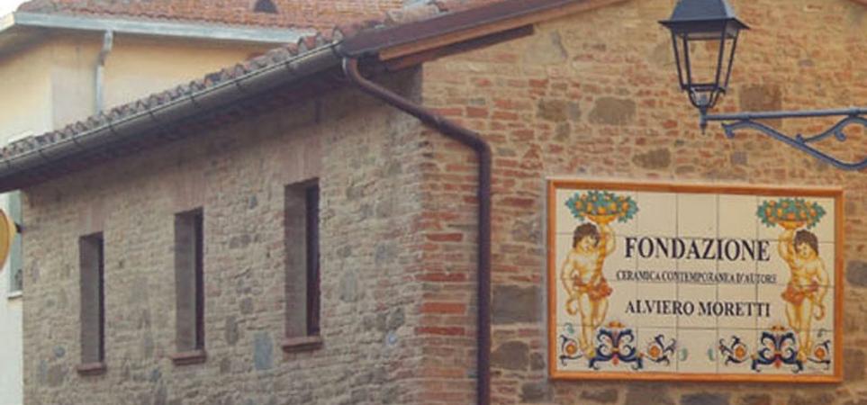 esterno fondazione ceramica contemporanea d'autore alviero moretti