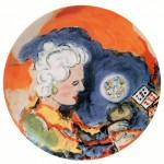 pittore giuseppe fioroni piatto in ceramica