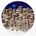 piatto in ceramica del pittore norberto