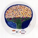 piatto in ceramica sabino ventura