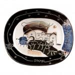 piatto in ceramica manlio bacosi