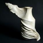 vaso scultura in ceramica giulio busti